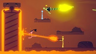 Download LAVA LAZERS and MAGMA TEMPLES! - Huge new Stick Fight Update! - Stick Fight Gameplay Video