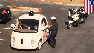 Download Google self-driving car pulled over by police for going too slow - TomoNews Video