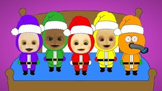 Download Five Teletubbies Santa's Jumping On The Bed Video