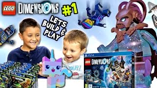 Download Lets Build & Play LEGO Dimensions #1: Starter Pack Timelapse & Gollum (LORD VORTECH Introduction) Video
