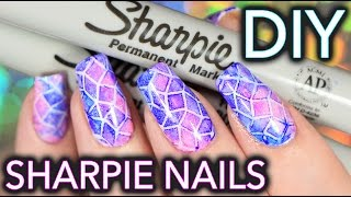 Download Sharpie Watercolour Nail Art WITH PATTERN!!! Video