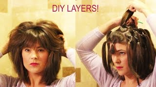 Download How to cut your own layers: DIY 90 Degree Haircut Method for Long Layers with Detailed Instructions Video