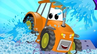Download Tractor | Car Wash For Kids | Learn Transport | Teach Vehicles Video