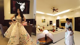 Download Aishwarya Rai Bachchan House Inside Room & Outside View Photos with Family Members Video