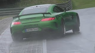 Download Mercedes AMG GT R Drifting on the Nürburgring! Video