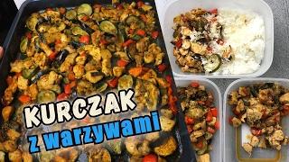 Download mega KURCZAK z warzywami z piekarnika - grillowany bakłażan, cukinia.... Szybki przepis na 4 porcje. Video