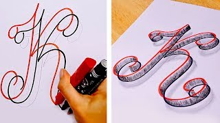Download 25 EASY DRAWING AND CALLIGRAPHY HACKS AND TRICKS Video