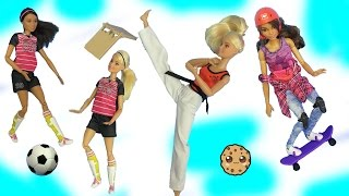 Download Scientist, Soccer Player, Skateboarder - Most Poseable Doll EVER Made To Move Barbie Video
