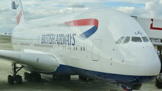 Download British Airways A380 business class London to Vancouver (decline in service) Video