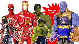 Download Marvel Avengers Infinity War Minimates Thanos & Iron Man, Spider Man, Hulk Toys Play Video