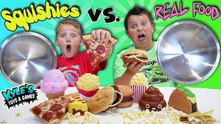 Download Squishy Food VS. Real Food Challenge! Video