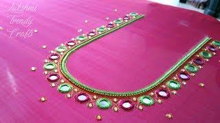 Download Simple Aari Mirror Work Blouse Design - 3 Video