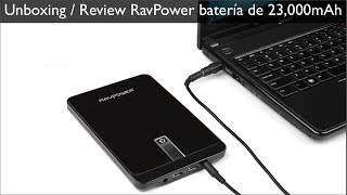 Download RavPower batería externa de 23,000mAh para Laptops, Tablets, Smartphones Video