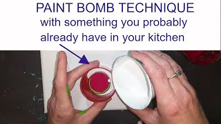 Download PAINT BOMB with something you probably have in your kitchen. Video