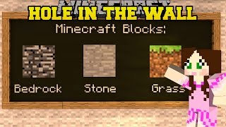 Download MINECRAFT: SUPER HOLE IN THE WALL (JUMP IN THE HOLE!) Mini-Game Video