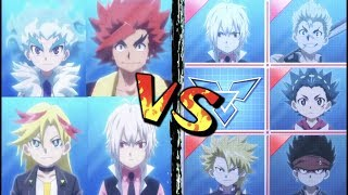Download The Evolved Beigoma Academy VS The Evolved Spin Emperors/Supreme Four! | Beyblade Burst Battle Video