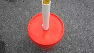 Download Bucket to hold painter pole antenna mast Video