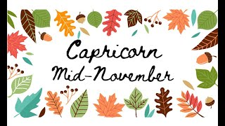 "Download CAPRICORN ""They're taking their role in your life"" MID NOVEMBER Tarot Reading Video"