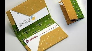 Download Origami Bussiness Card Holder for Fathers Day Video