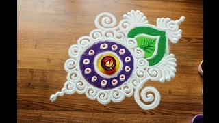 Download Simple, Easy and Quick Rangoli design with colours for Diwali Video