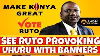 Download William Ruto Provoking Uhuru Kenyatta by Printing Campaign banners Video