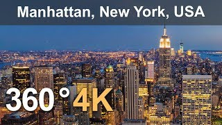 Download 360° Video, Manhattan, New York, USA, 4K aerial video Video
