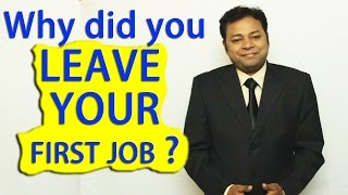 Download Why did you leave your last job? | How to answer this INTERVIEW Question Video