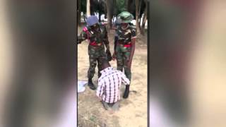 Download Nigerian Army Cadet Tortures Man For Complimenting A Female Officer Video
