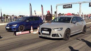 Download Volkswagen Golf 7 R vs Audi RS6 C7 Avant Video