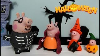 Download Peppa Pig e família ganham fantasias de Halloween com massinha! Esqueleto Vampira Bruxa Pt BR Video