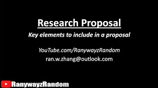 Download How To Write A Research Proposal? 11 Things To Include In A Thesis Proposal Video