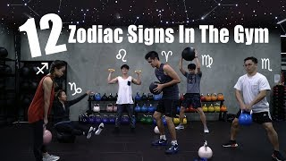 Download 12 Zodiac Signs In The Gym Video