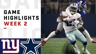 Download Giants vs. Cowboys Week 2 Highlights | NFL 2018 Video