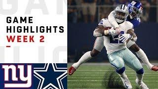 Download Giants vs. Cowboys Week 2 Highlights | NFL 2018 Video