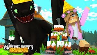 Download MY NIGHT FURY'S FIRST BIRTHDAY !! * Midnight Turns 1*   Minecraft DRAGONS Little Kelly Video