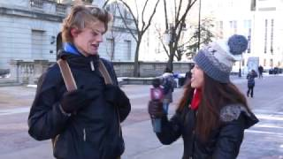 Download Students on the Street - Holiday gifts Video