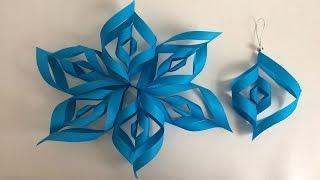Download Decoraciones navideñas, ideas para árbol de navidad, flor de papel, Christmas decorations, Video