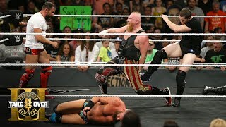 Download Kyle O'Reilly & Bobby Fish unleash vicious post-match assault on SAnitY: NXT TakeOver: Brooklyn III Video