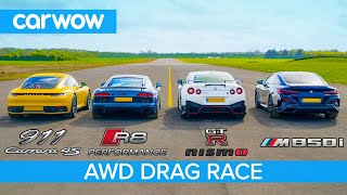 Download New 911 vs GT-R NISMO vs Audi R8 vs BMW M850i - DRAG RACE, ROLLING RACE & BRAKE TEST Video