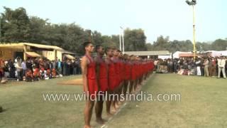 Download CISF jawans demonstrate their Malkhamb skills Video