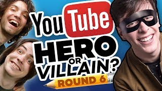 Download Drawing YOUTUBERS as HEROES & VILLAINS - ROUND 6! Video