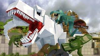 Download Minecraft | Good vs Evil - JURASSIC WORLD: Dinosaur Extinction! (Indominous Rex vs T-REx) Video