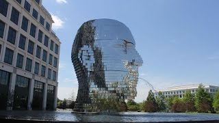 Download Metalmorphosis - Giant Metal Head Kinetic Sculpture in Charlotte Video