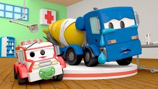 Download Christopher the Concrete Mixer has a problem :( - Amber the Ambulance in Car City l Cartoons Video