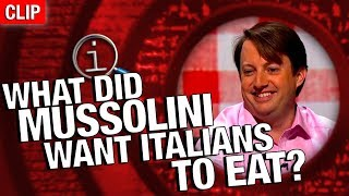 Download QI   What Did Mussolini Want Italians To Eat? Video