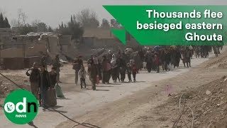 Download Thousands of civilians flee besieged eastern Ghouta Video