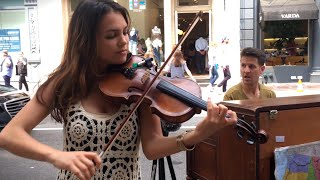 Download Spontaneous Street Piano and Violin Duet in New York City with Ada - Part 1 Video