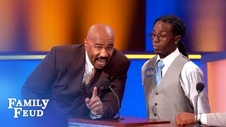 Download Steve Harvey threatens to destroy the set if THIS is up there! | Family Feud Video