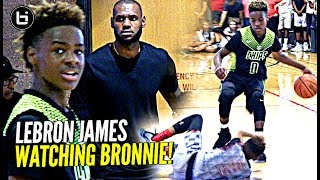 Download LeBron James watches Son Bronny Play & Gets TOO HYPE! Blue Chips vs Team Billups Video