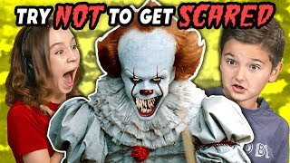 Download Kids React To Try Not To Get Scared Challenge Video